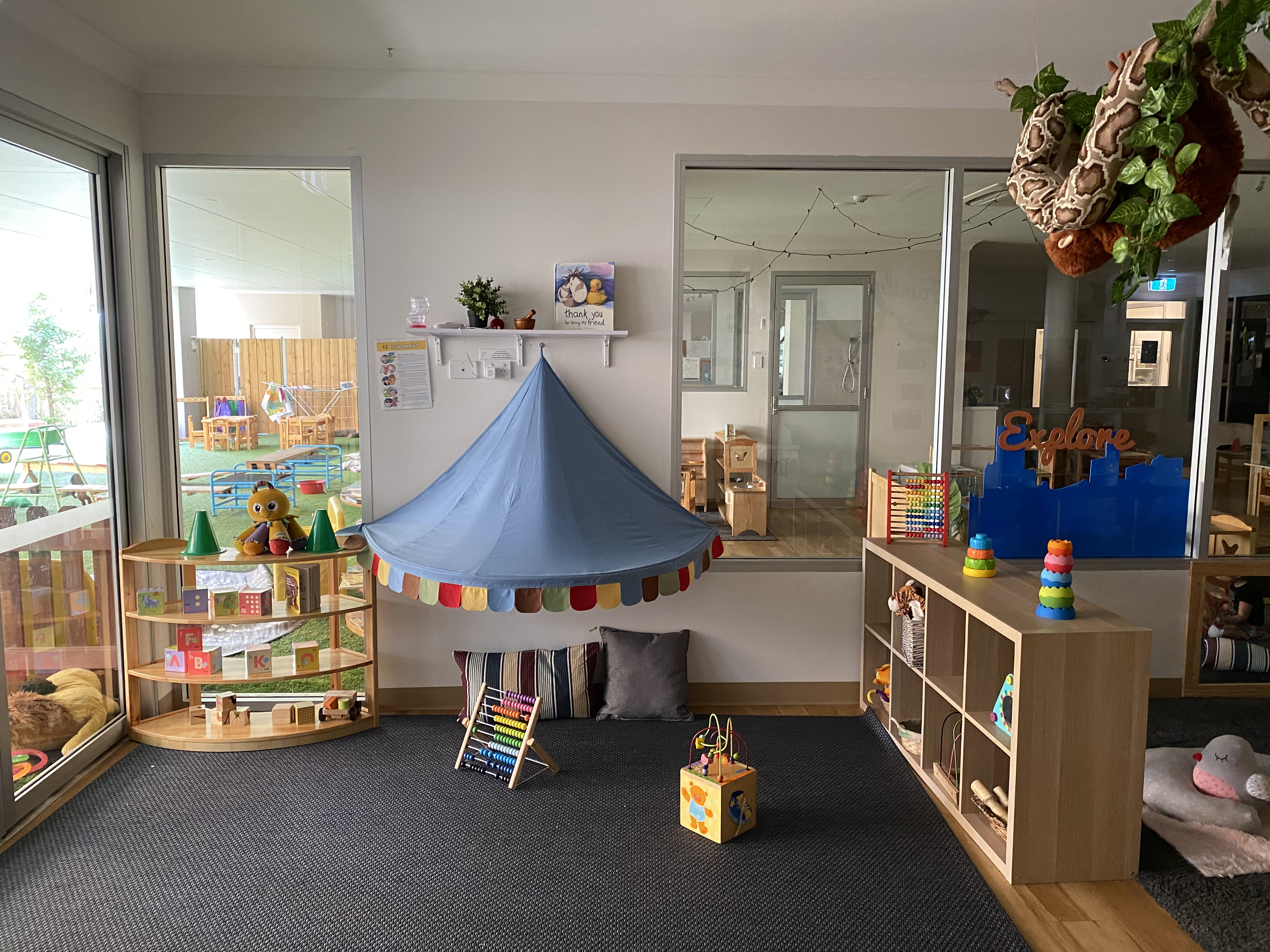 Segmented play areas in alexandria learning centre