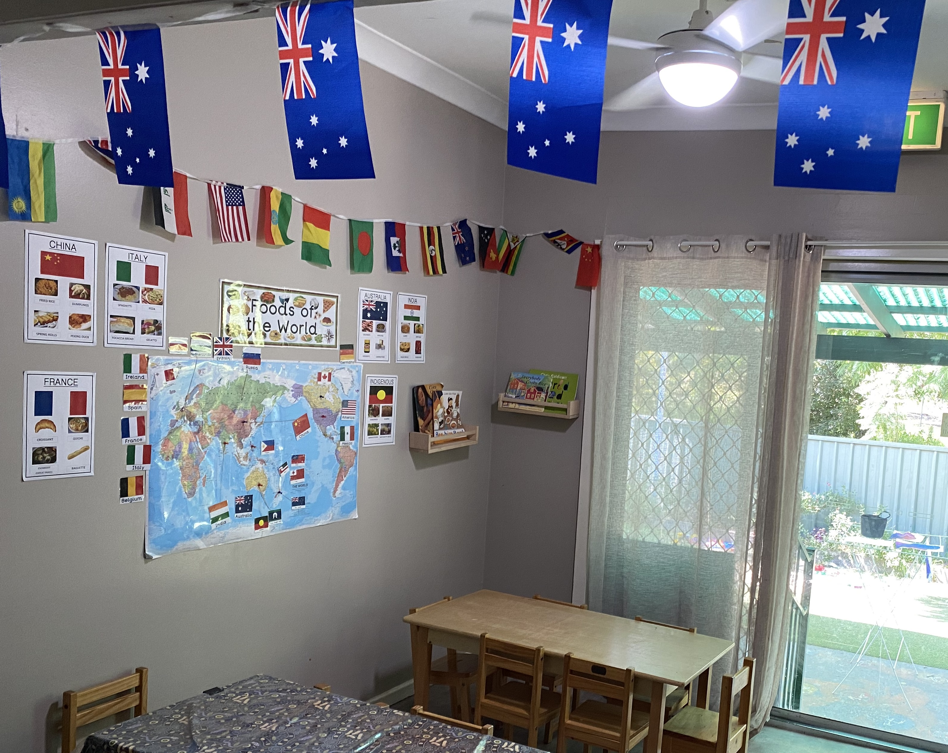 Wyoming Child Care - Flags & Food of the World